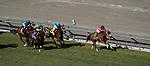 November 2, 2019 : Belvoir Bay, ridden by Javier Castellano, wins the Breeders' Cup Turf Sprint on Breeders' Cup Championship Saturday at Santa Anita Park in Arcadia, California on November 2, 2019. John Voorhees/Eclipse Sportswire/Breeders' Cup/CSM