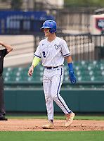 Lakeland Christian Vikings Jake Fox (2) leading off during the 42nd Annual FACA All-Star Baseball Classic on June 6, 2021 at Joker Marchant Stadium in Lakeland, Florida.  (Mike Janes/Four Seam Images)