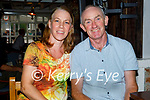 Enjoying the Tyrone and Mayo in Linnanes bar Tralee on Saturday, l to r: Nicola and John Stack (Duagh).