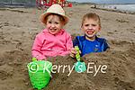 Laura and Adam Beakey enjoying playing in the sand on Ballyheigue beach on Sunday.