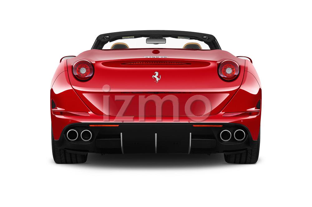 Straight rear view of 2017 Ferrari California-T 2 Door Convertible Rear View  stock images
