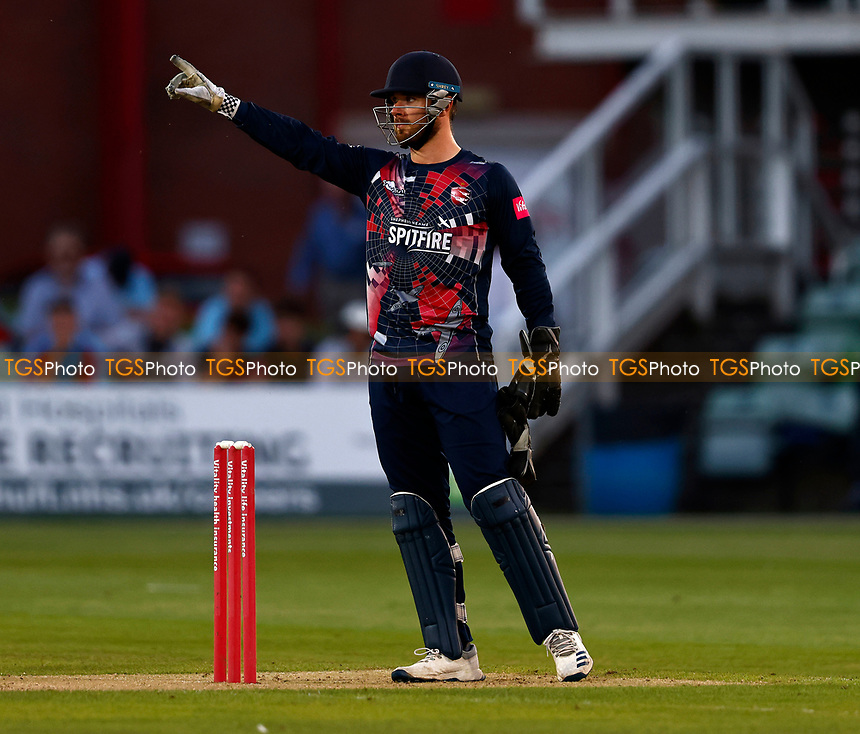 Kent wicketkeeper Dan Lincoln during Kent Spitfires vs Sussex Sharks, Vitality Blast T20 Cricket at The Spitfire Ground on 18th July 2021