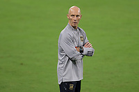LOS ANGELES, CA - SEPTEMBER 13: LAFC head coach Bob Bradley during a game between Portland Timbers and Los Angeles FC at Banc of California stadium on September 13, 2020 in Los Angeles, California.