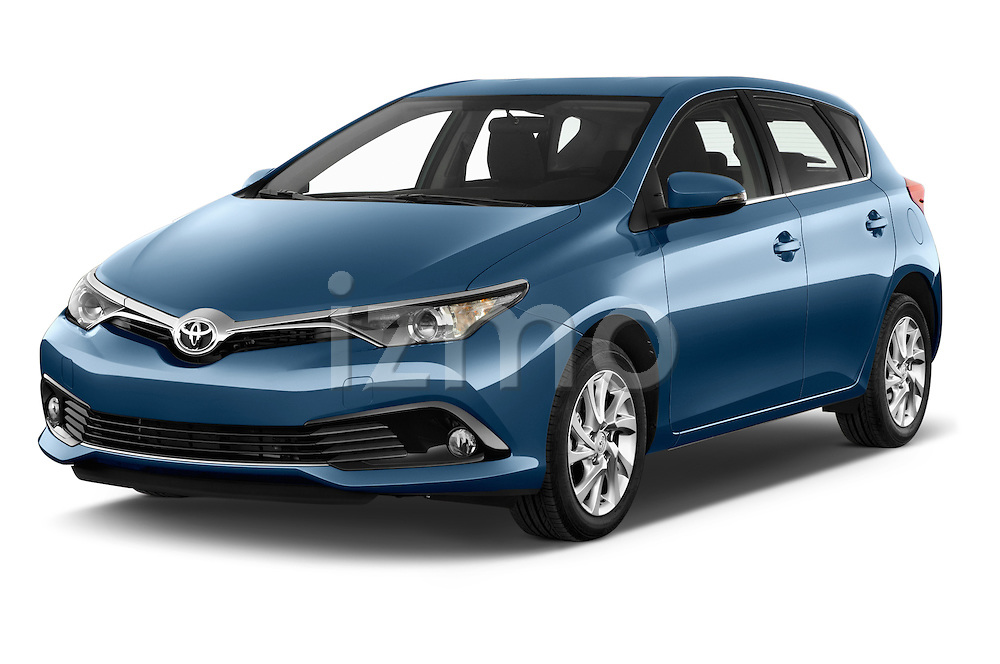2015 Toyota Auris Dynamic 5 Door Hatchback Angular Front stock photos of front three quarter view