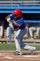 Auburn Doubledays second baseman Hendry Jimenez #7 during a game against the Batavia Muckdogs at Dwyer Stadium on July 17, 2011 in Batavia, New York.  Batavia defeated Auburn 8-3.  (Mike Janes/Four Seam Images)