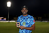 Ravi Bopara of Sussex collects his county championship winners medal (2019) during Essex Eagles vs Sussex Sharks, Vitality Blast T20 Cricket at The Cloudfm County Ground on 15th June 2021