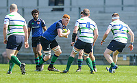 Monday 22nd April 2019   2019 McCrea Cup Final<br /> <br /> Martin Withers during the McCrea Cup final between Queens 2s and Grosvenor at Kingspan Stadium, Ravenhill Park, Belfast. Northern Ireland. Photo John Dickson/Dicksondigital