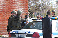 2003 File Photo<br /> <br /> Policemenarrest a man (in white)  after an hostage crisis near  Montreal, CANADA.<br /> <br /> <br /> (Mandatory Credit: Photo by Sevy - Images Distribution (©) Copyright 2003 by Sevy<br /> <br /> NOTE :  D-1 H original JPEG, saved as Adobe 1998 RGB.