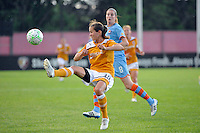 Keeley Dowling (40) of the Atlanta Beat plays the ball. Sky Blue FC defeated the Atlanta Beat 3-0 during a Women's Professional Soccer (WPS) match at Yurcak Field in Piscataway, NJ, on May 21, 2011.