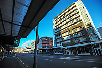 Taranaki Street, Wellington CBD, at 8am during Level 4 lockdown for the COVID-19 pandemic in Wellington, New Zealand on Wednesday, 25 August 2021.