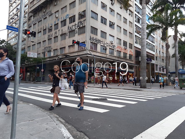 Campinas (SP), 10/02/2021 - Comércio-SP - Movimentação no centro de Campinas, interior de São Paulo, nesta quarta-feira (10).