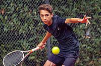 Hilversum, Netherlands, August 8, 2018, National Junior Championships, NJK, Zacharias Alpassa (NED)<br /> Photo: Tennisimages/Henk Koster