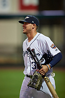 Lakeland Flying Tigers JaCoby Jones (36), on rehab assignment from the Detroit Tigers, before a Florida State League game against the Tampa Tarpons on April 5, 2019 at Publix Field at Joker Marchant Stadium in Lakeland, Florida.  Lakeland defeated Tampa 5-3.  (Mike Janes/Four Seam Images)