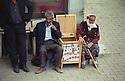 Turkey 2005  A couple selling cigarettes in the street of Dogubayazit  Turquie 2005  Un couple vendant des cigarettes dans une rue de Dogubayazit