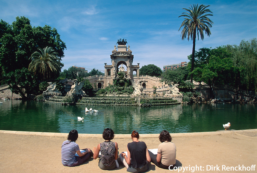 Spanien, Katalonien, Barcelona, Font Monumental im Parc de la Ciutadella