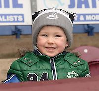 Burnley v Swansea <br /> Reece Carmichael age 3 at his firts football match