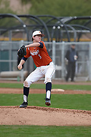Kyle Rich (8) of KELLER High School in Keller, Texas during the Under Armour All-American Pre-Season Tournament presented by Baseball Factory on January 15, 2017 at Sloan Park in Mesa, Arizona.  (Kevin C. Cox/MJP/Four Seam Images)