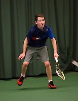 Rotterdam, The Netherlands, 07.03.2014. NOJK ,National Indoor Juniors Championships of 2014, Nathan Strijkert (NED) <br /> Photo:Tennisimages/Henk Koster