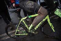 Sven Nys (BEL/Crelan-AAdrinks) post-race<br /> <br /> Grand Prix Adrie van der Poel, Hoogerheide 2016<br /> UCI CX World Cup