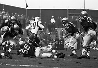 1960 Grey Cup Ottawa Rough Riders and Edmonton Eskimos play in Empire Stadium Vancouver BC. Photo Ted Grant.