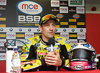 Winner Josh Brookes of Anvil Hire Tag Racing during the press conference after the Final of the MCE British Superbikes in Association with Pirelli round 12 2017 - BRANDS HATCH (GP) at Brands Hatch, Longfield, England on 15 October 2017. Photo by Alan  Stanford / PRiME Media Images.