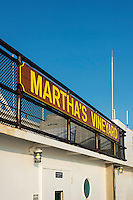 Martha's Vineyard ferry between Woods Hole and Vineyard Haven, Massachusetts, USA