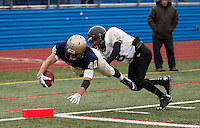 """Lourdes  Warriors vs Nanuet Golden Knights football Section 1 """"B"""" Final in Mahopac, NY on Saturday, November 1, 2014.<br /> Lourdes defeated Nanuet by the score of 18 - 14."""