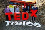 Launching the TED X siminar at Siamsa Tire on Saturday. L to r: James Finnegan, Alannah Diggin, Brian Carr and Breanndán Ó Beaglaoich.
