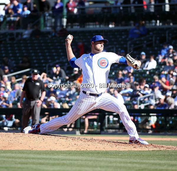 Trevor Megill - Chicago Cubs 2020 spring training (Bill Mitchell)