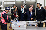 King Felipe VI of Spain (r) in presence of Silvia Clemente, President of the Courts of Castilla y Leon (2l) visits the new factory of Campofrio in Burgos. November 23, 2016.(ALTERPHOTOS/Acero)