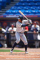 Brevard County Manatees catcher Fidel Pena (18) at bat during a game against the St. Lucie Mets on April 17, 2016 at Tradition Field in Port St. Lucie, Florida.  Brevard County defeated St. Lucie 13-0.  (Mike Janes/Four Seam Images)