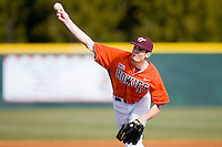 Starting pitcher Matthew Price #14 of the Virginia Tech Hokies in action against the Wake Forest Demon Deacons at English Field March 27, 2010, in Blacksburg, Virginia.  Photo by Brian Westerholt / Four Seam Images
