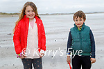 Playing on the beach in Ballyheigue on Saturday, l to r: Emma and Colin O'Sullivan