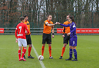 Referee gives a fist bump to Laura De Neve (8 Anderlecht) before a female soccer game between Standard Femina de Liege and RSC Anderlecht on the 9th matchday of the 2020 - 2021 season of Belgian Scooore Womens Super League , saturday 12 th of December 2020  in Angleur , Belgium . PHOTO SPORTPIX.BE   SPP   SEVIL OKTEM