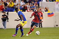 Danny Williams (7)  of the United States. The men's national team of the United States (USA) Ecuador (ECU) during an international friendly at Red Bull Arena in Harrison, NJ, on October 11, 2011.