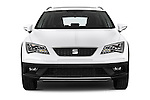 Car photography straight front view of a 2015 Seat Leon Style Copa 4 Door Hatchback Front View
