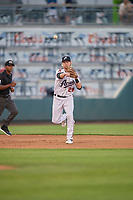 Marty Herum (28) of the Reno Aces on defense against the Nashville Sounds at Greater Nevada Field on June 5, 2019 in Reno, Nevada. The Aces defeated the Sounds 3-2. (Stephen Smith/Four Seam Images)