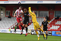 Danny Newton of Stevenage F.C. Ashley Eastham of Salford City F.C. and Vaclav Hladky of Salford City F.C. during Stevenage vs Salford City, Sky Bet EFL League 2 Football at the Lamex Stadium on 3rd October 2020