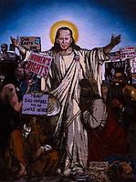 21.01.2021 - Joe Biden Graffiti in Rome's Trastevere District: The Saviour
