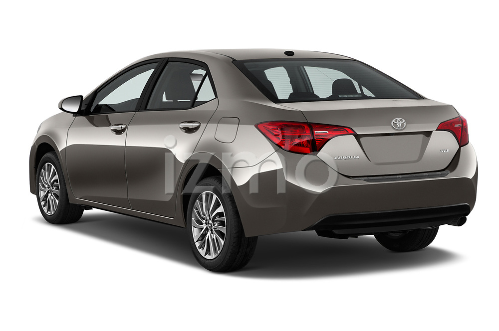 Car pictures of rear three quarter view of 2017 Toyota Corolla XLE Premium 4 Door Sedan angular rear