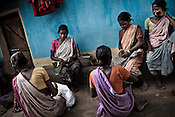 Rehabilitated villagers generate income by making products from the jungles in Pattagodam Salwa Judum camp in  Bhairamgarh, Chhattisgarh, India. Photo: Sanjit Das/Panos for The Times