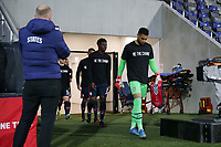WIENER NEUSTADT, AUSTRIA - MARCH 25: Zack Steffen #1 of the United States leads the team onto the field during a game between Jamaica and USMNT at Stadion Wiener Neustadt on March 25, 2021 in Wiener Neustadt, Austria.