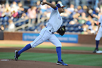 Durham Bulls starting pitcher Chris Archer #15 delivers a pitch during a game against the Empire State Yankees at Durham Bulls Athletic Park on June 8, 2012 in Durham, North Carolina . The Yankees defeated the Bulls 3-1. (Tony Farlow/Four Seam Images).