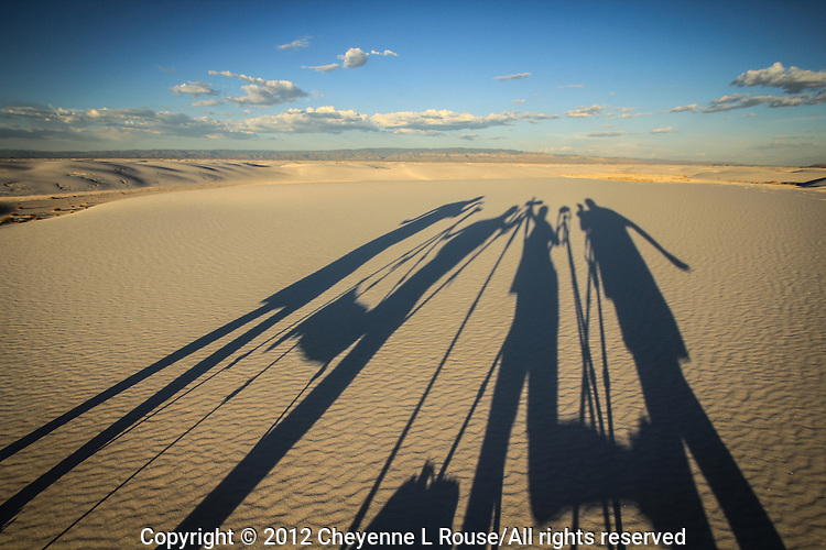 "Gettin' Silly on the Sand in New Mexico. Yep that's right I even make my Photo Workshop students have some ""shadow fun"" with me. This was my ""Full Moon at White Sands Photo Workshop"" in August 2012"