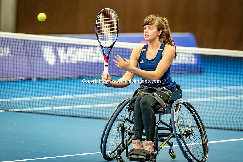 Alphen aan den Rijn, Netherlands, December 18, 2019, TV Nieuwe Sloot,  NK Tennis, Wheelchair doubles: Jinte Bos (NED)<br /> Photo: www.tennisimages.com/Henk Koster