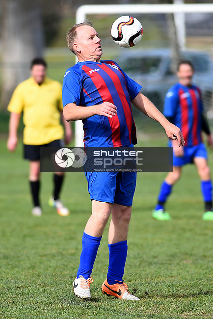 NELSON, NEW ZEALAND - October 2: 2015 South Island Masters Games - Football on October 2, 2015 in Nelson, New Zealand. (Photo by: Chris Symes Shuttersport Limited)