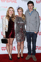 HOLLYWOOD, CA - DECEMBER 01: Taylor Spreitler, Melissa Joan Hart, Nick Robinson arriving at the 82nd Annual Hollywood Christmas Parade held at Hollywood Boulevard on December 1, 2013 in Hollywood, California. (Photo by Xavier Collin/Celebrity Monitor)