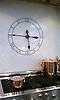 Custom kitchen backsplash clock shown in Thassos and Bardiglio.