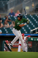 Daytona Tortugas Andy Sugilio (25) during a Florida State League game against the Palm Beach Cardinals on April 11, 2019 at Roger Dean Stadium in Jupiter, Florida.  Palm Beach defeated Daytona 6-0.  (Mike Janes/Four Seam Images)