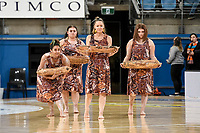 6th June 2021; Ken Rosewall Arena, Sydney, New South Wales, Australia; Australian Suncorp Super Netball, New South Wales, NSW Swifts versus Giants Netball; Traditional Aborignal dance is performed at half time